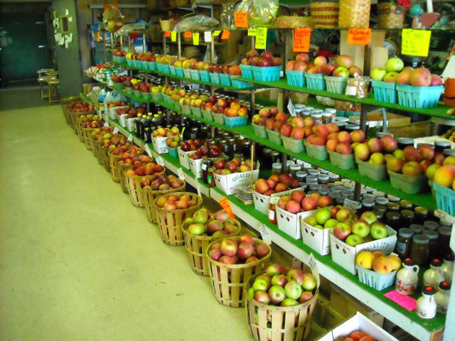 We have 105 different varieties of fruit! Our own and some locally grown produce in season!